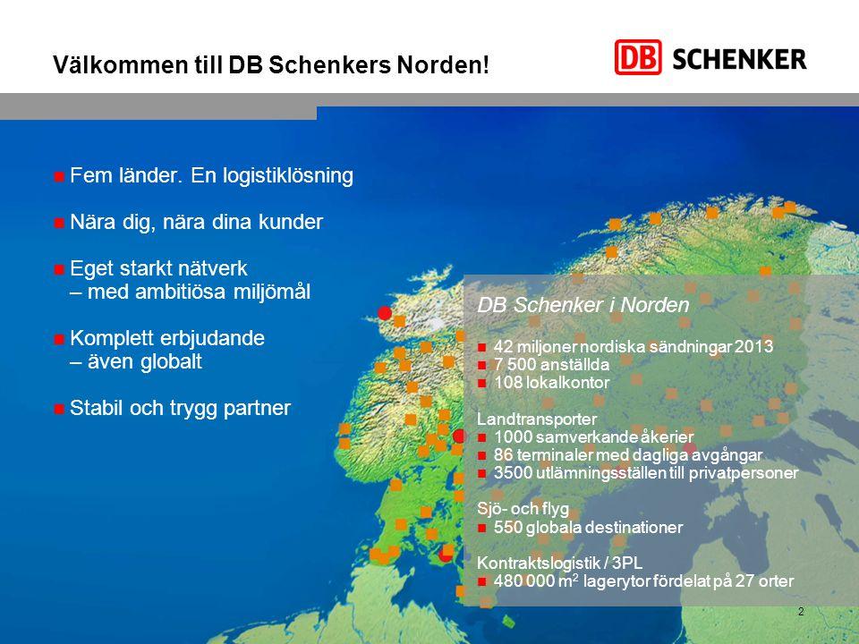 Välkommen till DB Schenkers Norden!