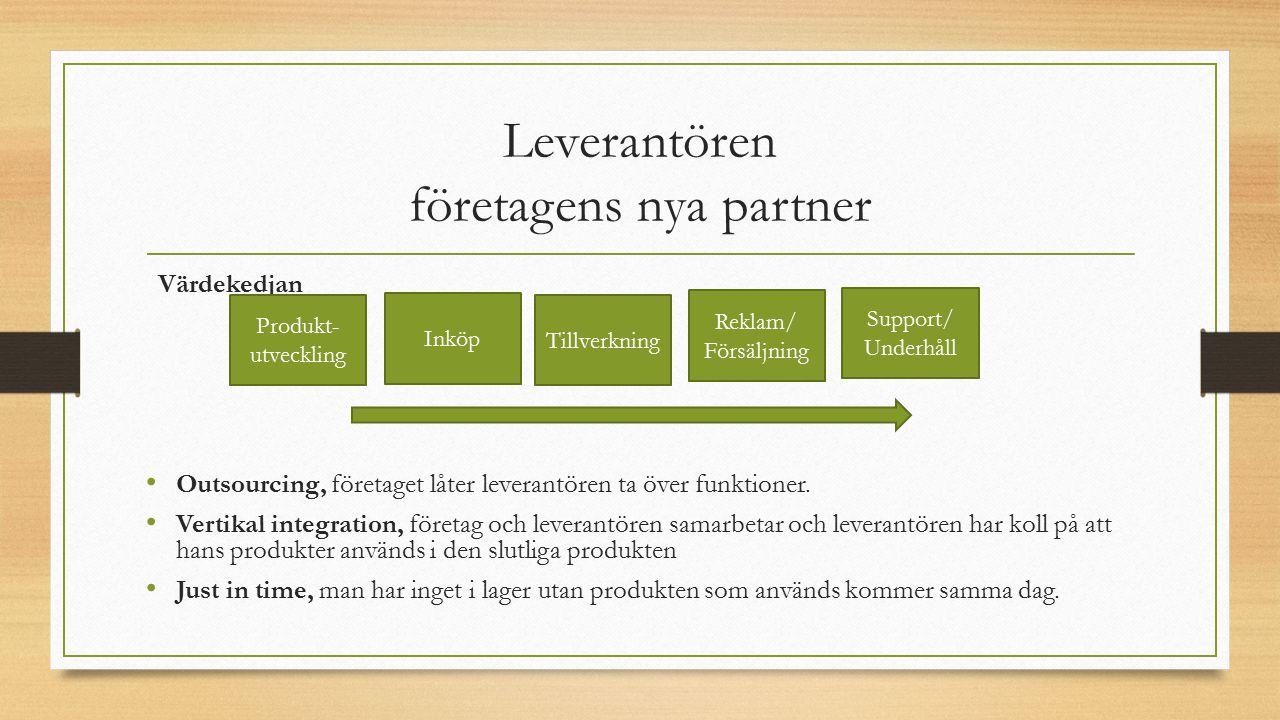 Leverantören företagens nya partner