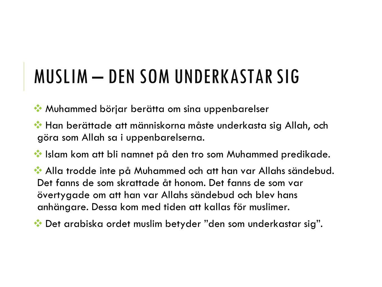 Muslim – den som underkastar sig