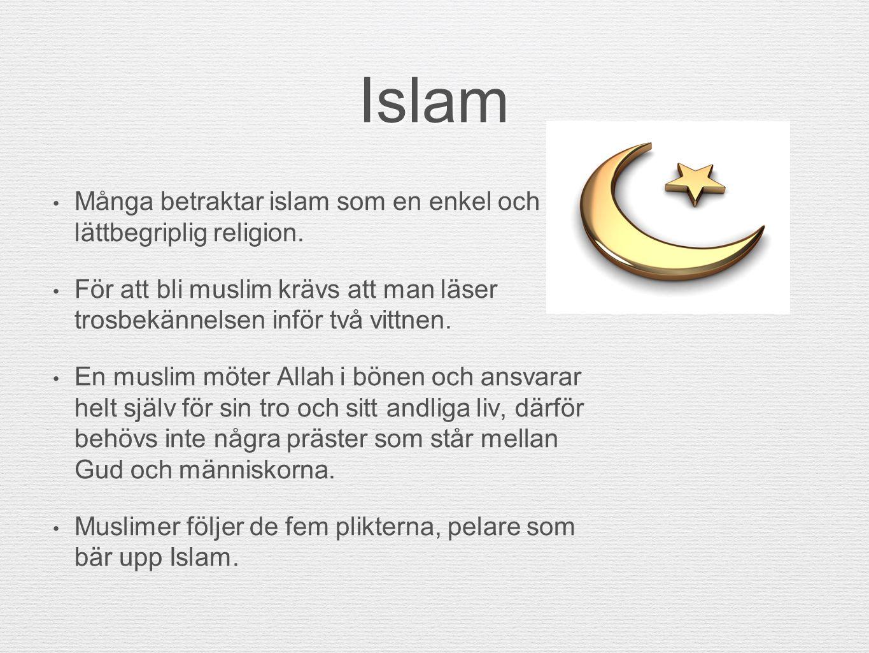 Islam Många betraktar islam som en enkel och lättbegriplig religion.