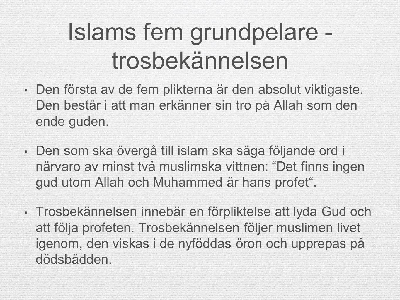 Islams fem grundpelare - trosbekännelsen