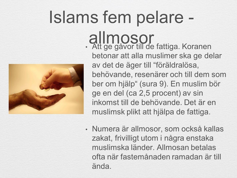 Islams fem pelare - allmosor