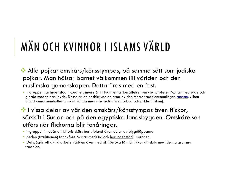 Män och kvinnor i islams värld