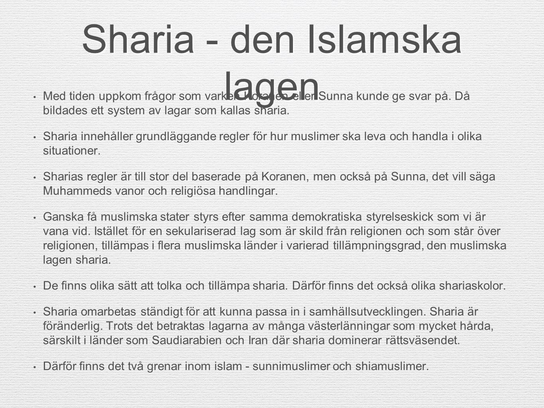 Sharia - den Islamska lagen