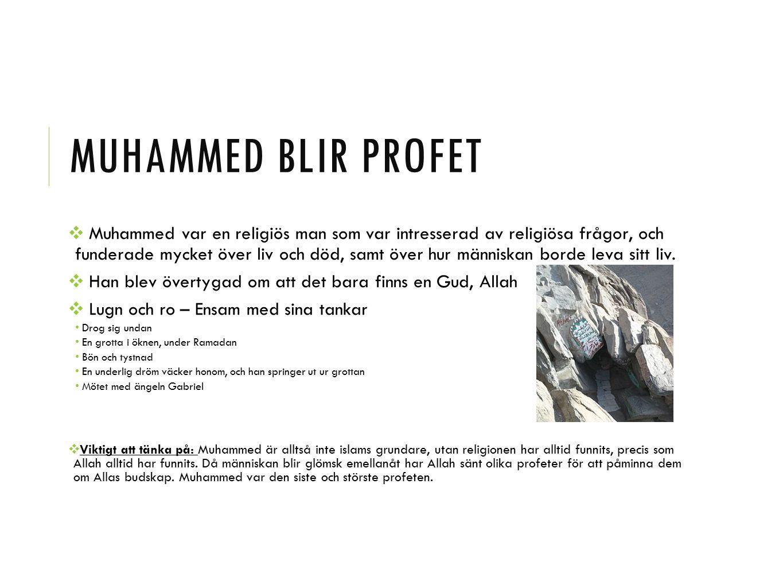 Muhammed blir profet