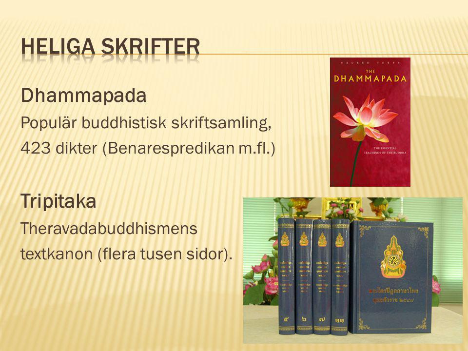 Heliga Skrifter Dhammapada Tripitaka