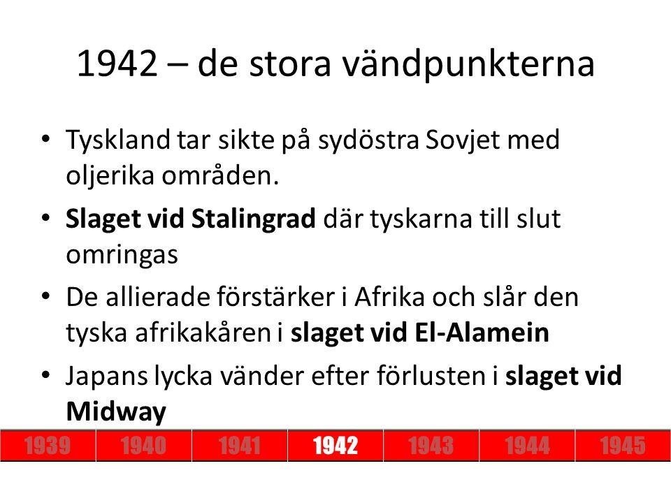 1942 – de stora vändpunkterna