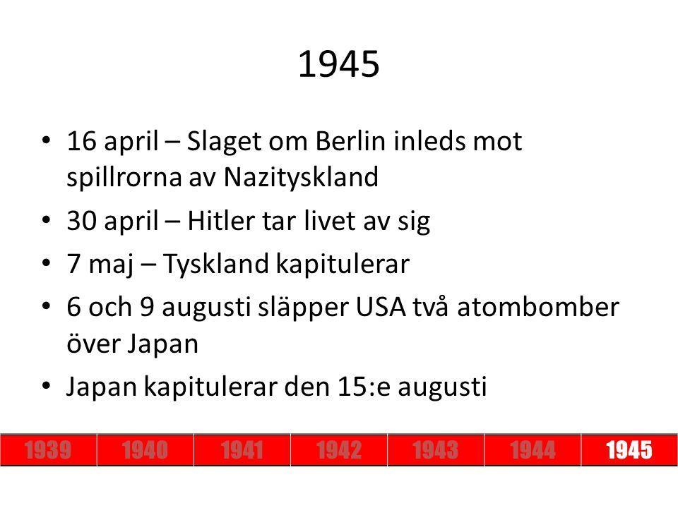 1945 16 april – Slaget om Berlin inleds mot spillrorna av Nazityskland