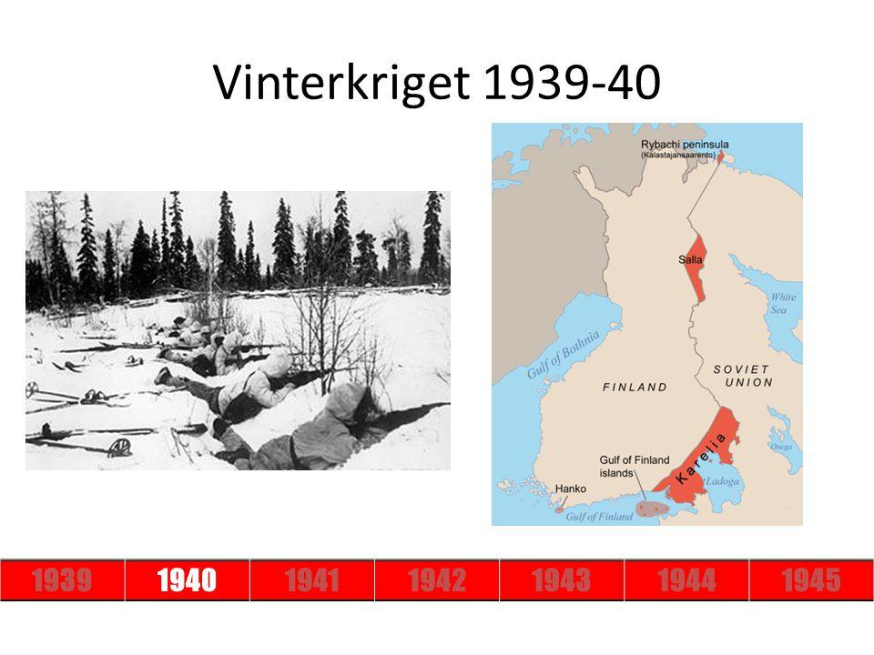 Vinterkriget 1939-40 1939 1940 1941 1942 1943 1944 1945
