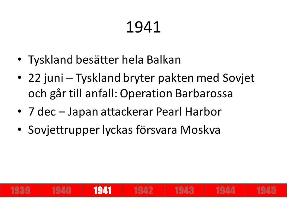 1941 Tyskland besätter hela Balkan