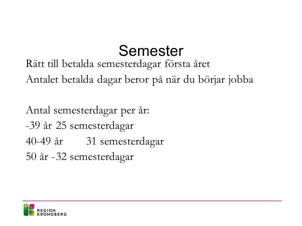 Semester Rätt till betalda semesterdagar första året