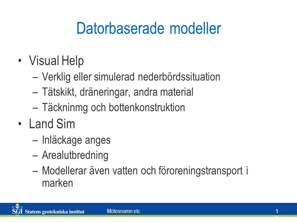 Datorbaserade modeller