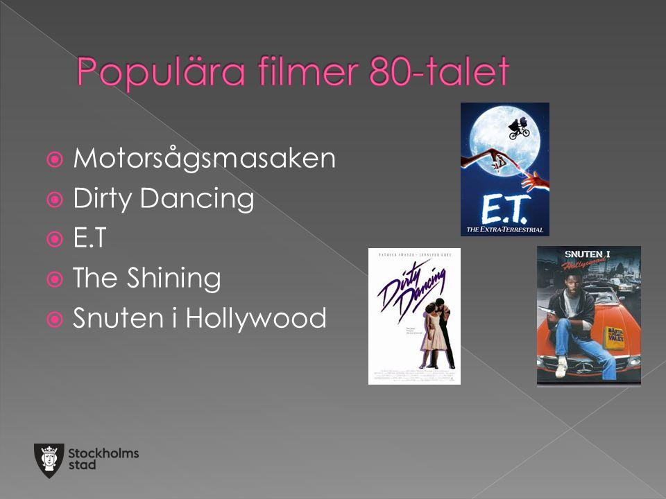 Populära filmer 80-talet