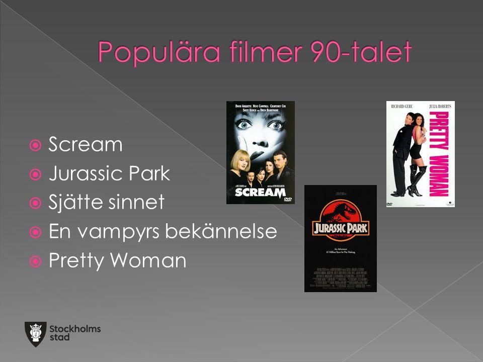 Populära filmer 90-talet