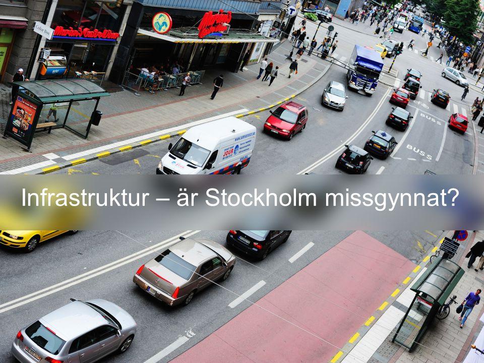 Infrastruktur – är Stockholm missgynnat