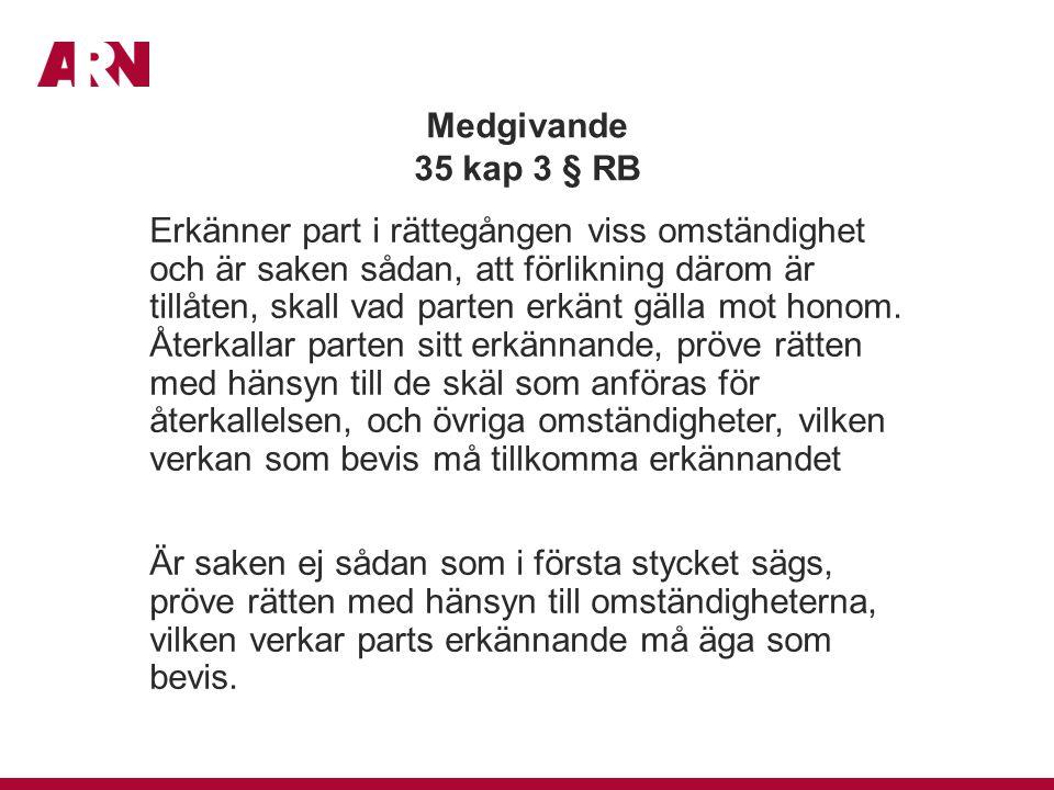 Medgivande 35 kap 3 § RB