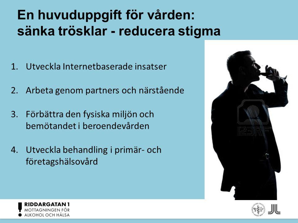 En huvuduppgift för vården: sänka trösklar - reducera stigma