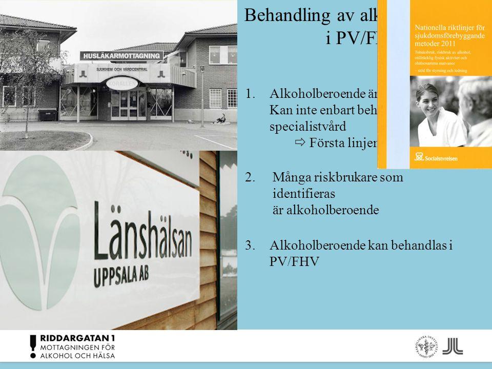 Behandling av alkoholberoende i PV/FHV