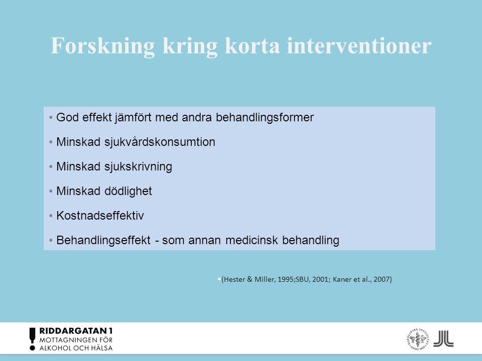 Forskning kring korta interventioner