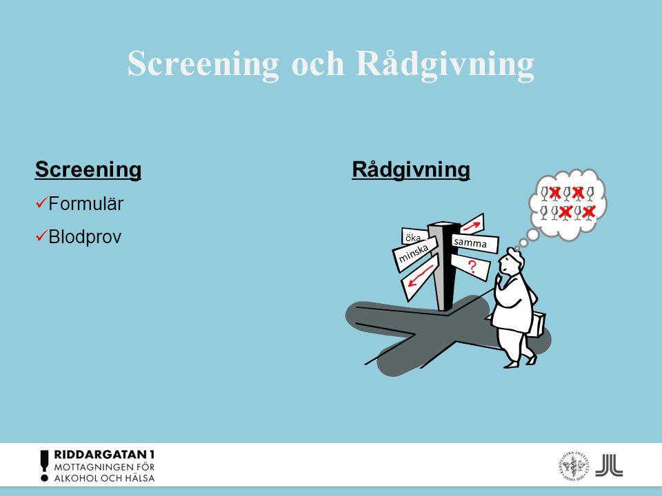 Screening och Rådgivning