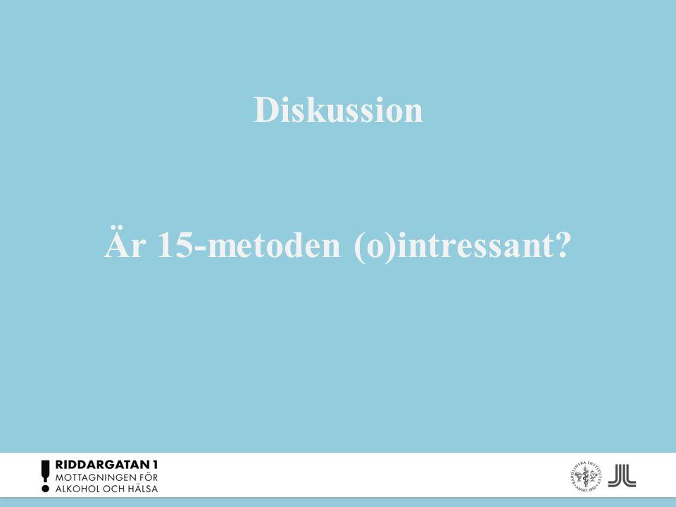 Diskussion Är 15-metoden (o)intressant