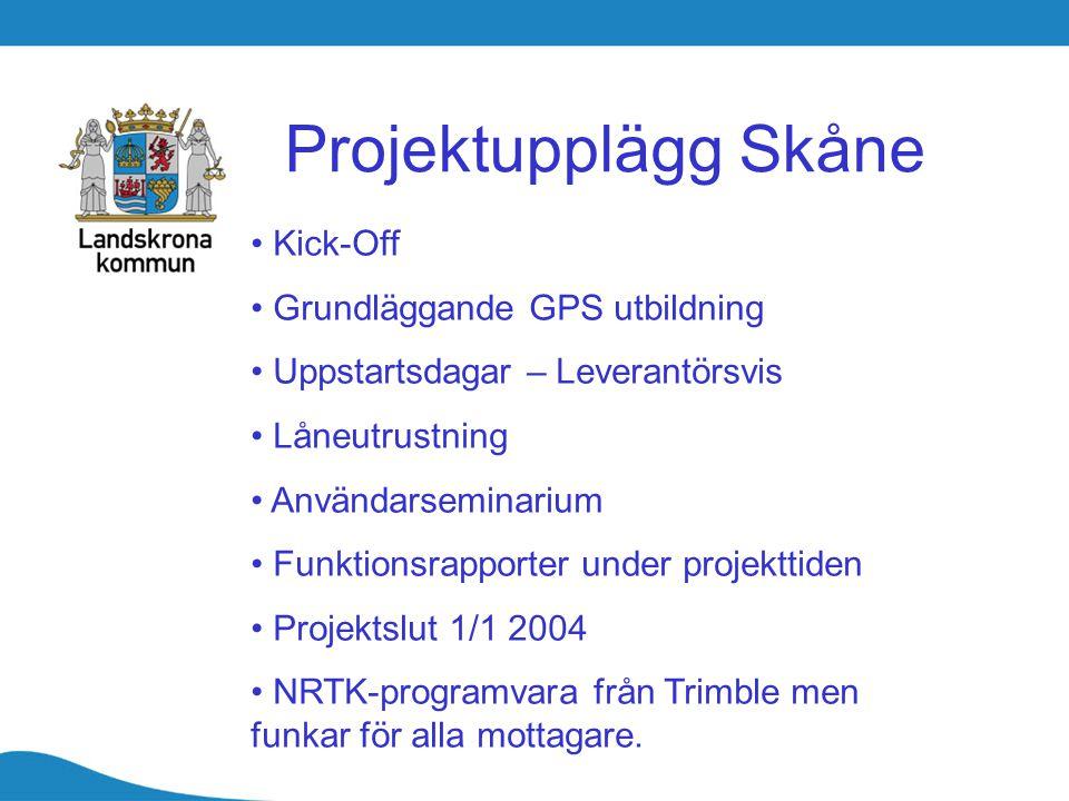 Projektupplägg Skåne Kick-Off Grundläggande GPS utbildning