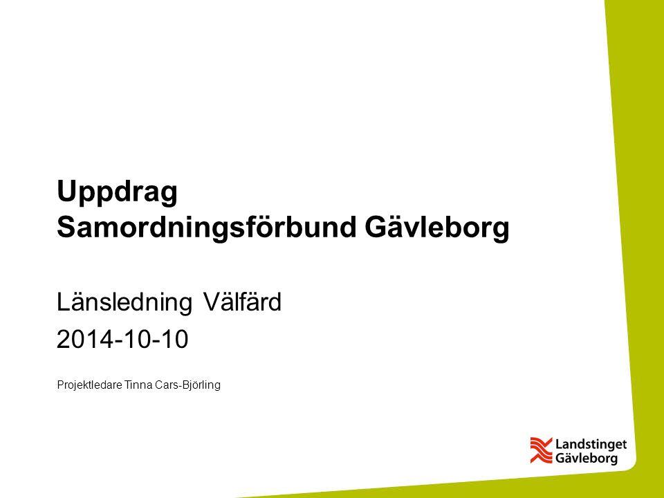 Uppdrag Samordningsförbund Gävleborg