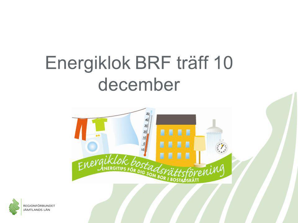 Energiklok BRF träff 10 december