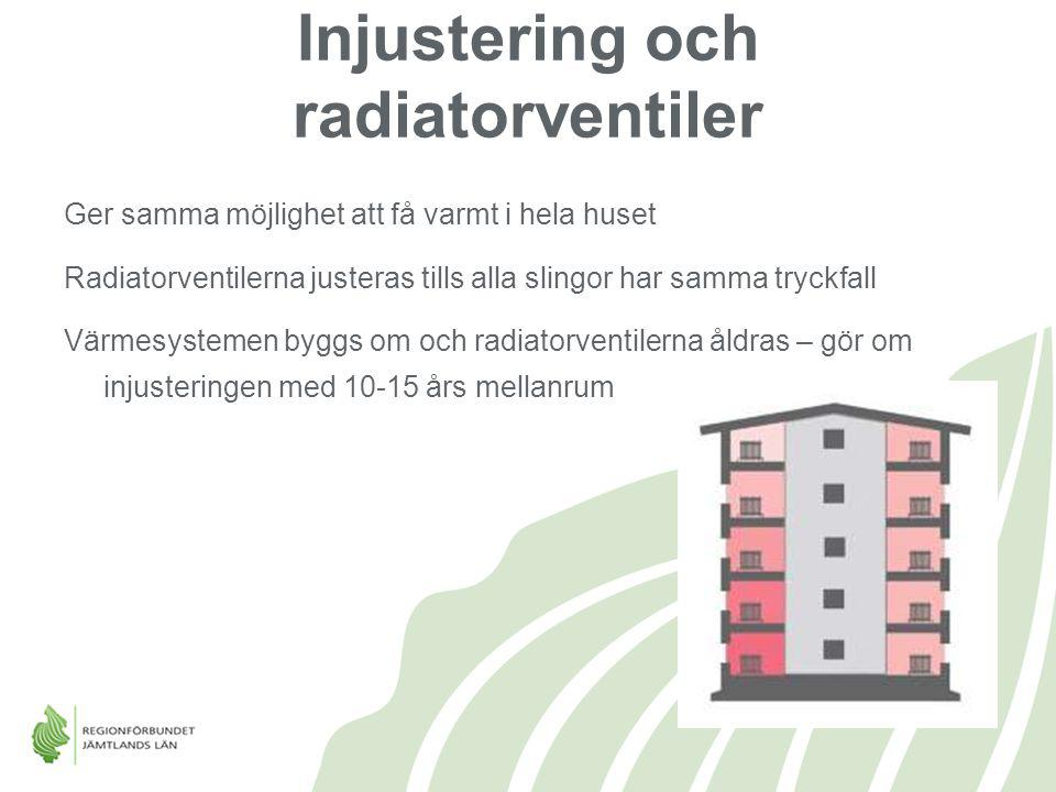 Injustering och radiatorventiler