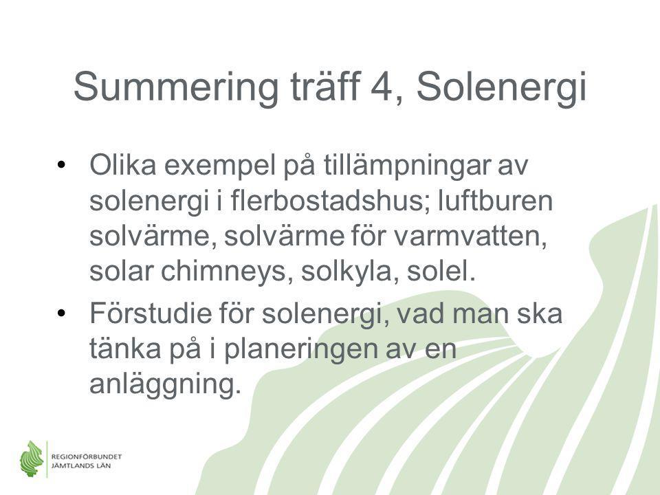 Summering träff 4, Solenergi