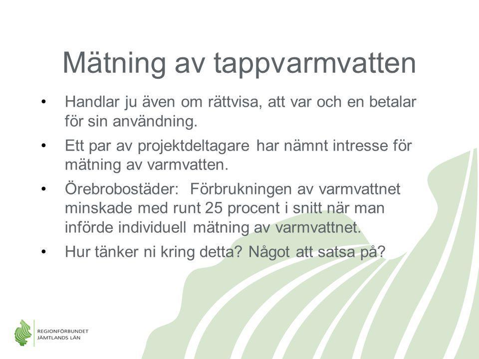 Mätning av tappvarmvatten