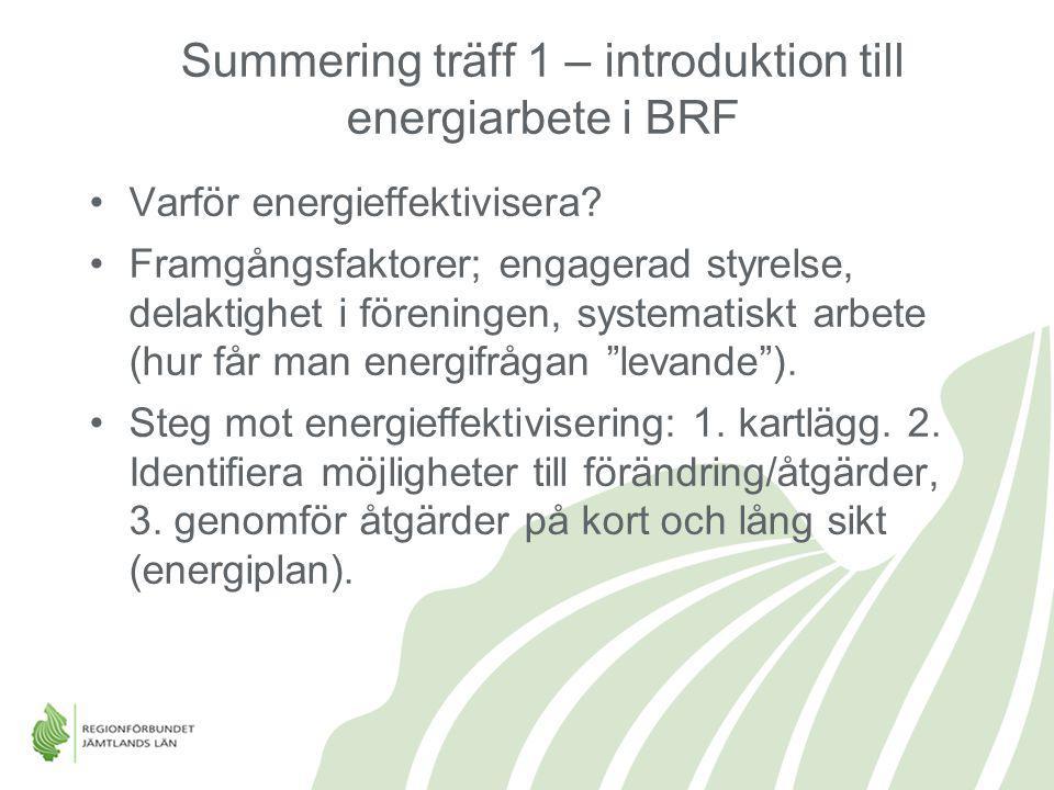 Summering träff 1 – introduktion till energiarbete i BRF
