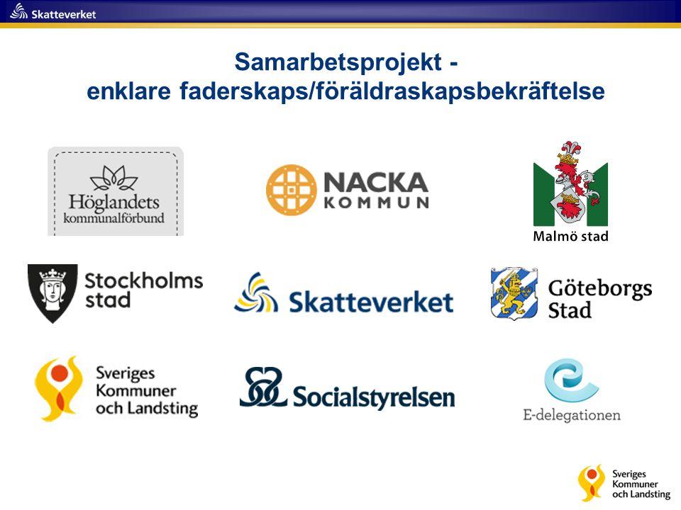 Samarbetsprojekt - enklare faderskaps/föräldraskapsbekräftelse