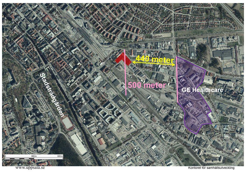440 meter 500 meter GE Healthcare Stadsträdgården