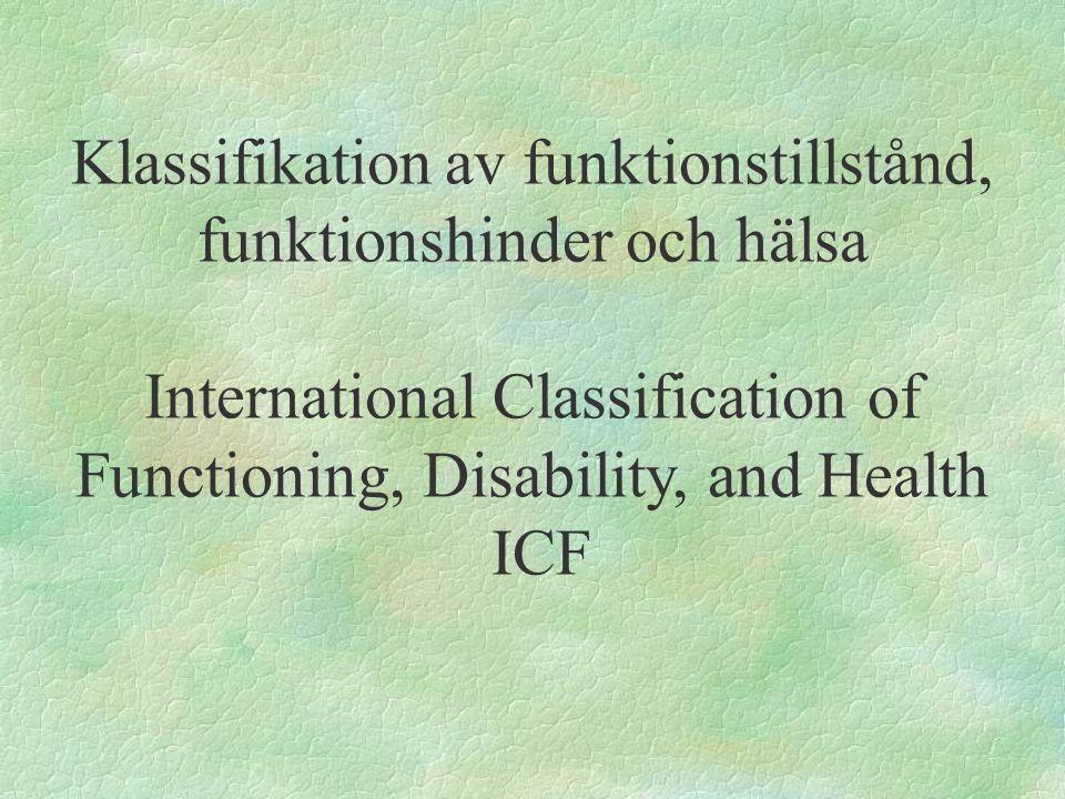 Klassifikation av funktionstillstånd, funktionshinder och hälsa