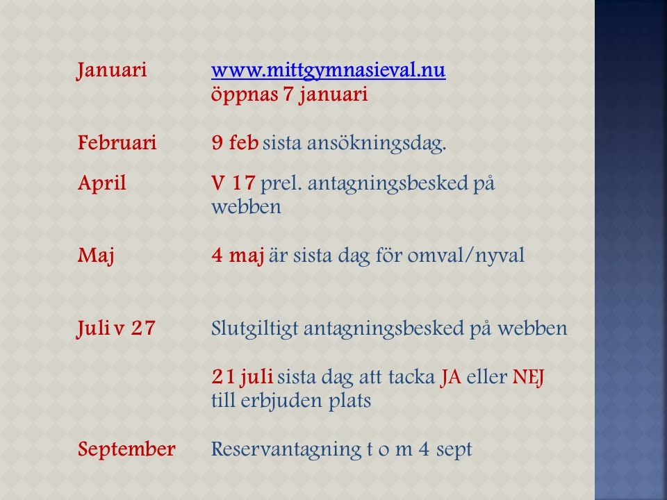 Januari www.mittgymnasieval.nu