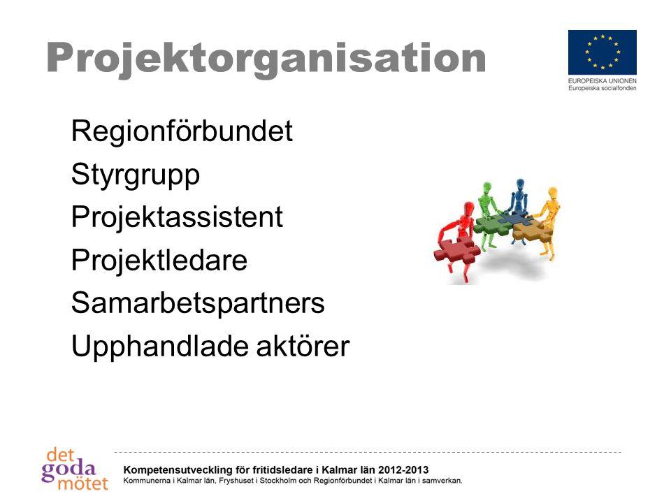 Projektorganisation Regionförbundet Styrgrupp Projektassistent