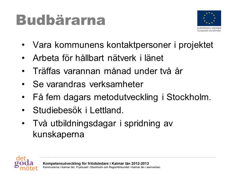 Budbärarna Vara kommunens kontaktpersoner i projektet