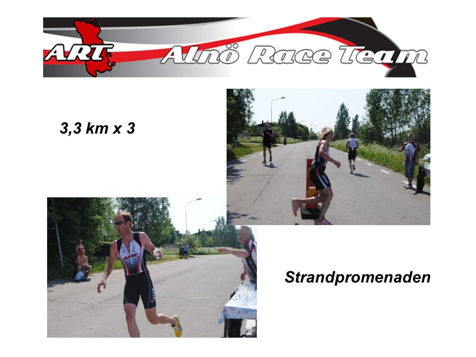 3,3 km x 3 Strandpromenaden