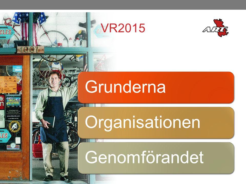 VR2015 Grunderna Organisationen Genomförandet