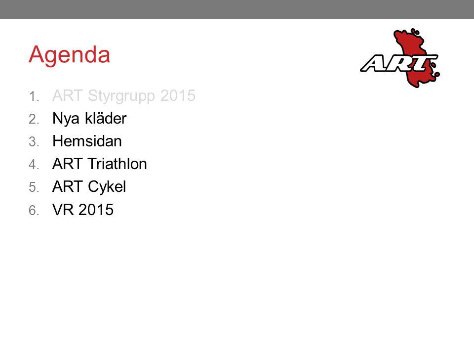 Agenda ART Styrgrupp 2015 Nya kläder Hemsidan ART Triathlon ART Cykel