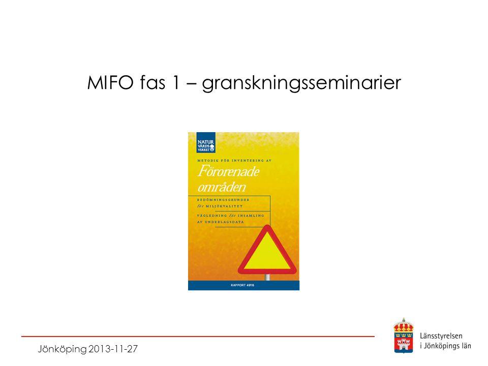 MIFO fas 1 – granskningsseminarier