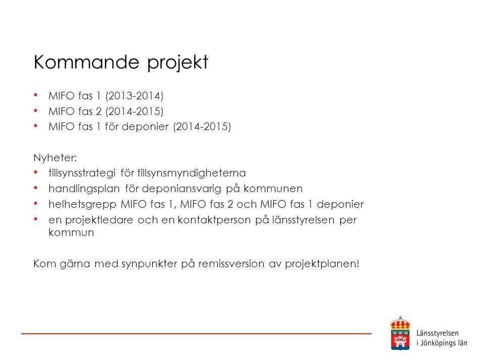 Kommande projekt MIFO fas 1 (2013-2014) MIFO fas 2 (2014-2015)