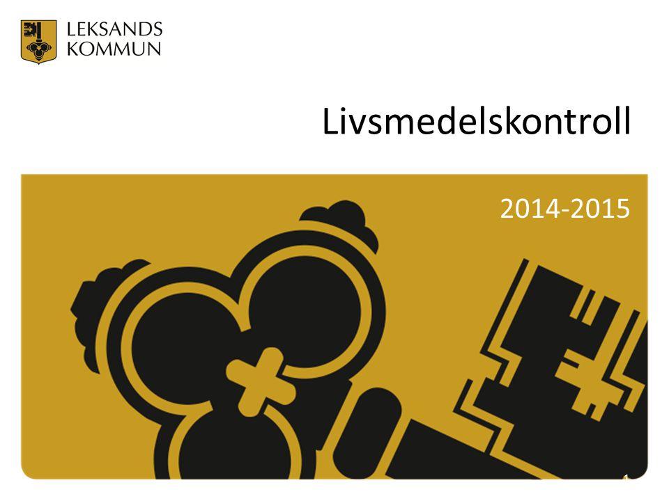 Livsmedelskontroll 2014-2015