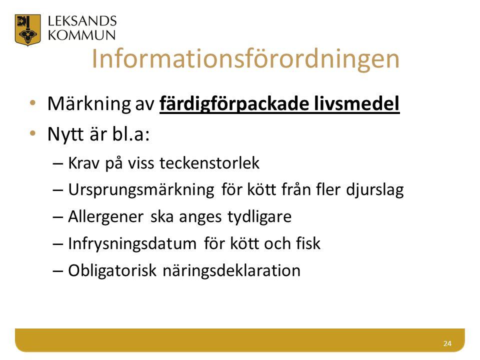 Informationsförordningen