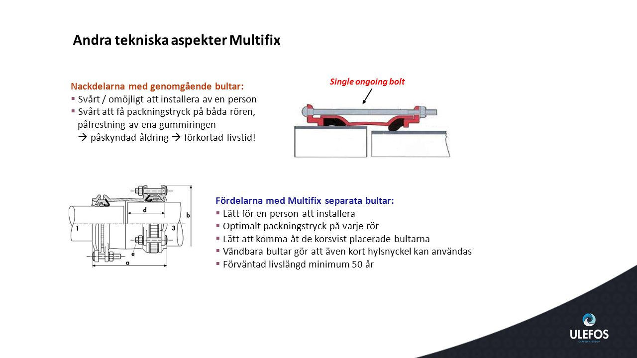 Andra tekniska aspekter Multifix