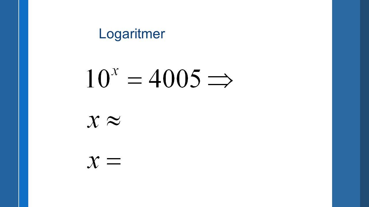 Logaritmer