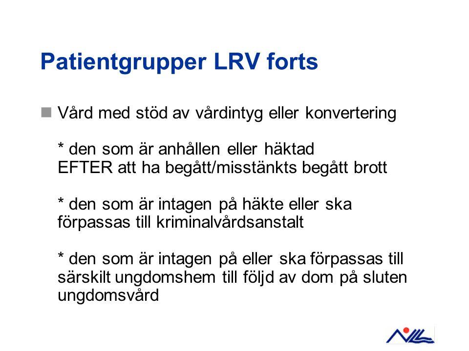 Patientgrupper LRV forts