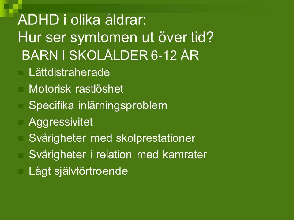 ADHD i olika åldrar: Hur ser symtomen ut över tid