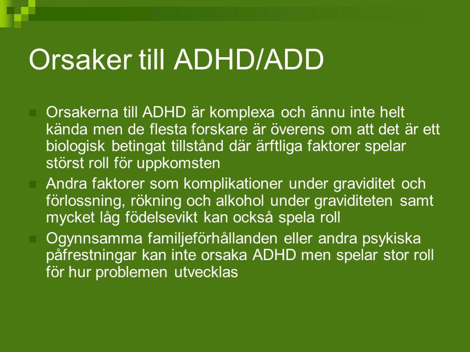 Orsaker till ADHD/ADD